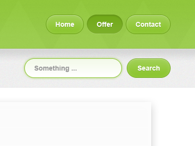 Menu and search form form input submit button green navigation menu header sweet texture