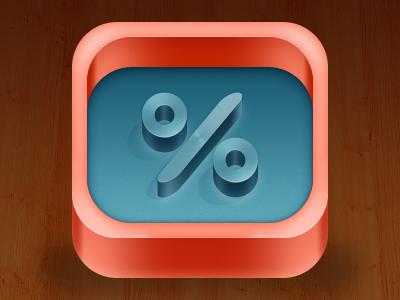 Percent iOS icon icon ios iphone ipad percent design