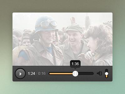 Minimalistic video player video slider player button movie
