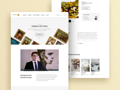 Art Auction Hall Website