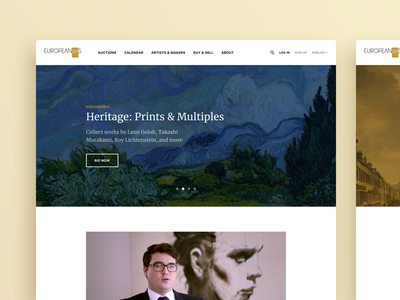 Art Auction Hall Website typography webdesign video painting minimal gallery auction art