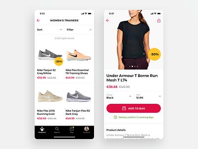 Fashion E-commerce App iphone ui clothes shoes tabbar badge button app ios shopping eshop eccomerce