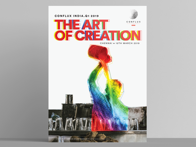 Conflux India - The Art of Creation design conflux india poster design amazon poster poster art