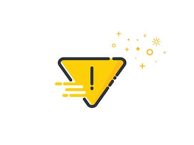 Warning Icon illustration mbe icon warning