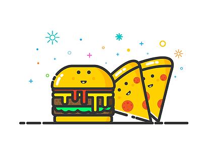 Hamburger & Pizza mbe icon food pizza hamburger