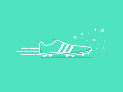 Love Football ! soccer football shoes spike illustration icon
