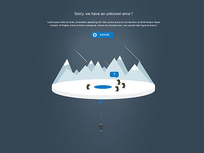 Error Page - 404 illustration penguins support 404 error page
