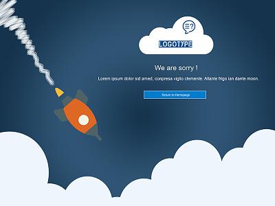 Error Page - 404 rocket illustration 404 error page