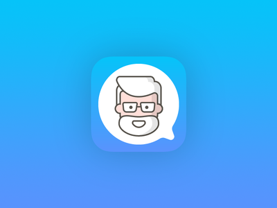Lekka App Icon medical app health app digital health app icon flat minimal medicine chat doctor ios app