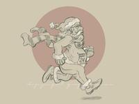 Runner Santa