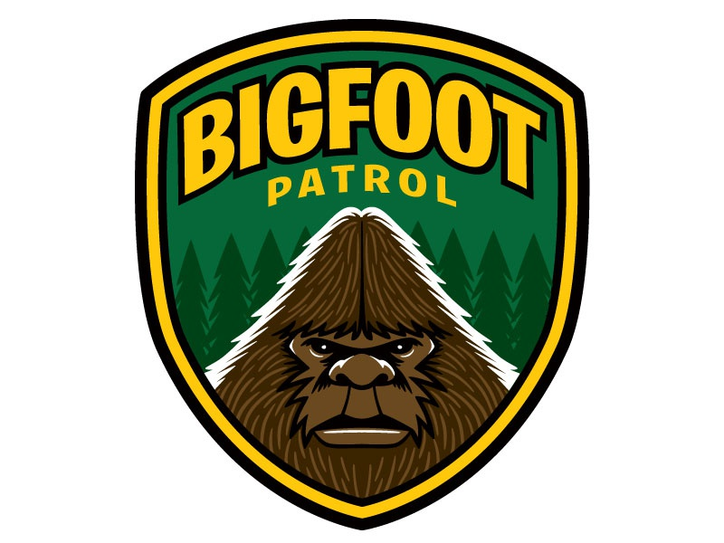 Bigfoot Patrol Embroidered Patch Design/Illustration by George