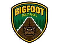 Bigfoot Patrol Embroidered Patch Design/Illustration