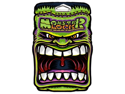 Monster Lock: Frankenstein Monster Mouth Sketch art drawing illustration sketch cartooning cartoon character cartoon character monster frankenstein mouth packaging