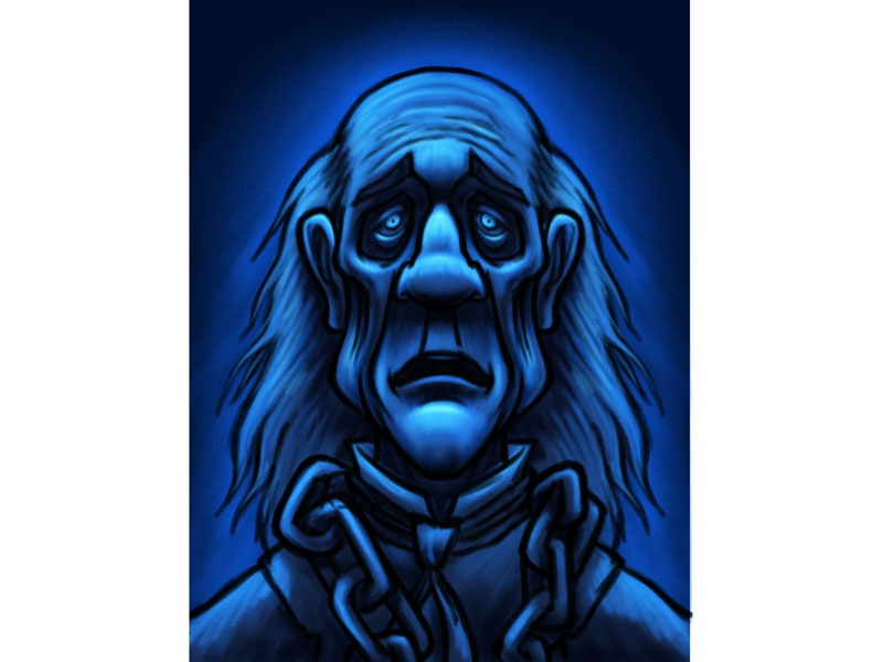 ghost of jacob marley dickens christmas carol cartoon character sketch coghill dribbble