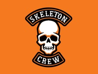 """Skeleton Crew"" Halloween Biker Patch"