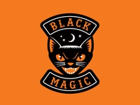 """Black Magic"" Halloween Biker Patch"
