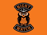 """Night Watch"" Owl Halloween Biker Patch"