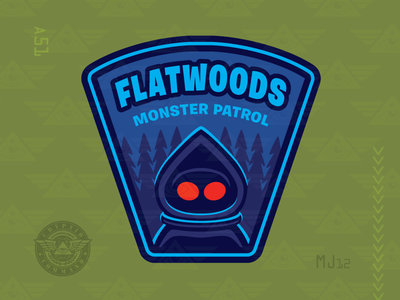 Flatwoods Monster Patrol embroidered patch military patch cryptozoology cryptid creature monster
