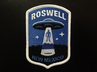 """Roswell"" UFO Alien Abduction Embroidered Patch"