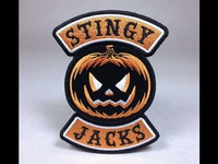 """Stingy Jacks"" Jack-O-Lantern Pumpkin Embroidered Patch"