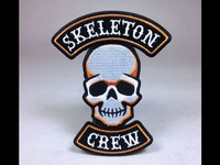 """Skeleton Crew"" Skull Embroidered Patch"