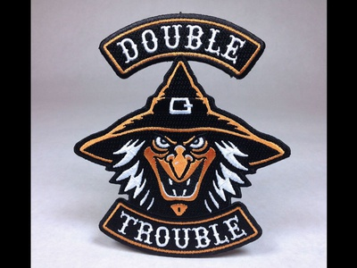 """Double Trouble"" Witch Embroidered Patch"