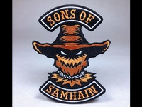 """Sons Of Samhain"" Scarecrow Embroidered Patch"
