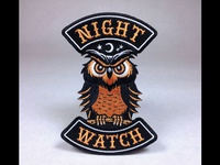 """Night Watch"" Owl Embroidered Patch"
