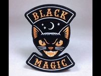 """Black Magic"" Cat Embroidered Patch"