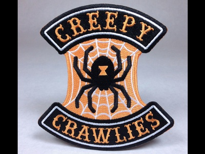 """Creepy Crawlies"" Spider Embroidered Patch"