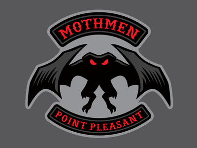 """Mothmen"" - Mothman Cryptid Biker Patch creature monster biker motorcycle mothman patch cryptid"