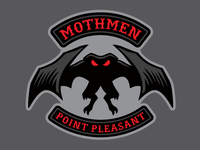"""Mothmen"" - Mothman Cryptid Biker Patch"