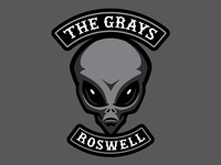 """The Grays"" - Cryptid Biker Patch (Aliens)"