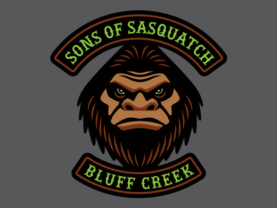 """""""Sons Of Sasquatch"""" - Cryptid Biker Patch creature monster cryptid patch bigfoot motorcycle biker"""