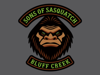 """Sons Of Sasquatch"" - Cryptid Biker Patch"