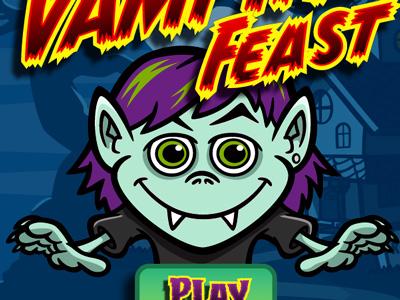 Cartoon vampire iphone game art splash screen preview coghill