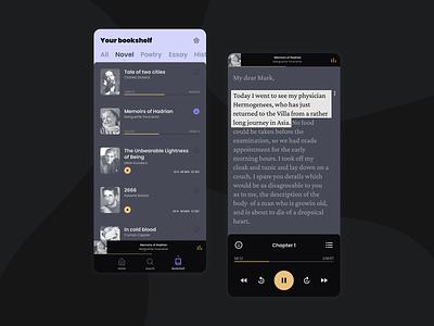 Audio Player dailyui mobile uxdesign uidesign audiobooks audio audio player