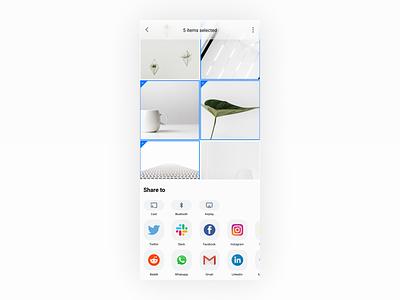 Social Share ui ux mobile sharing social sharing social share
