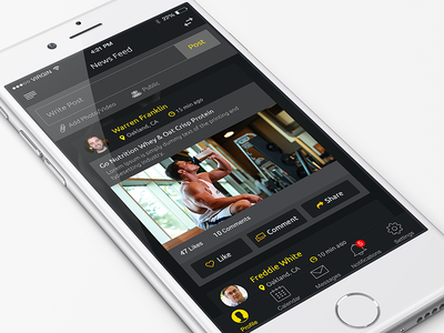 News Feed - Fitness agency ui ux ios news feed news app iphone app fitness search gym gym app design workout