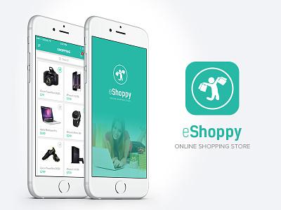 eShoppy Online Shopping app ui ux shopping app online shopping app ecommerce mobile app shopping cart mobile ui ui design iphone app app icon