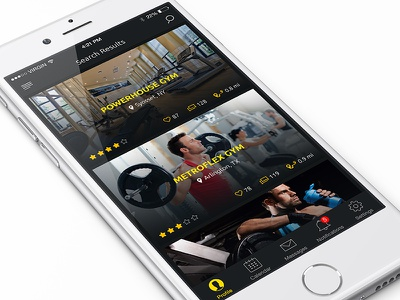 Fitness app ui ux ios app mobile app iphone app fitness trainer app search gym gym gym locater app design workout