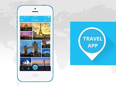 Travel App travel app location app iphone app ios travel mobile app tourism app tourist app flat design travelling ios8 android l