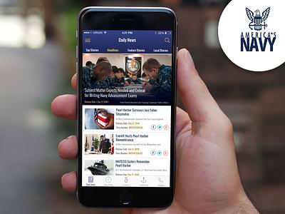 Concept United States Navy App gov app navy app icon logo design ux ui america navy ios app navy america