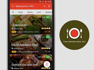 Online Food Ordering app android mobile app hotels restaurant app food app material design ui ui design food restaurants search