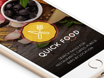 Quick Food iOS app search restaurants restaurant app material design hotels food app android food ui design mobile app ui