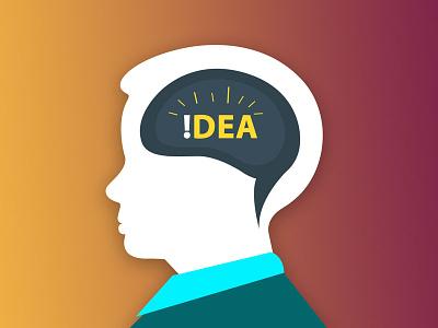 !dea (Th!nk Creat!ve) mobile design google presentation icon ux ui brain geeko creative idea