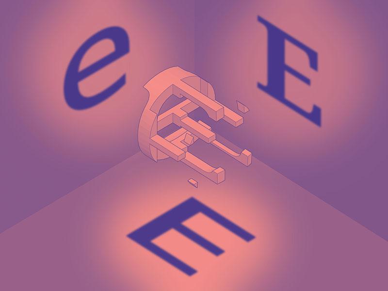 #Typehue Week 5: E (Steve Hopkinson) letter design challenge tyopgraphy type typehue
