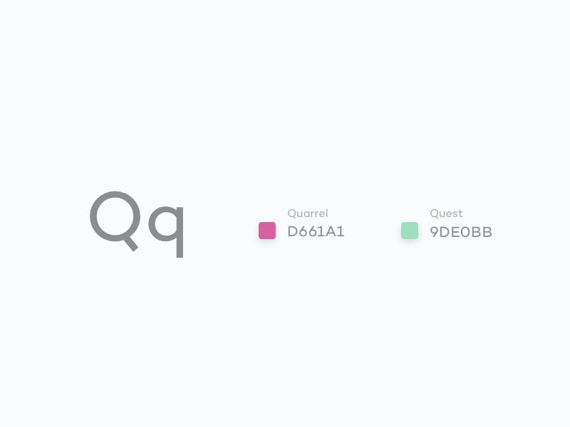 #Typehue Week 17: Q weekly typehue type q colour challenge 17