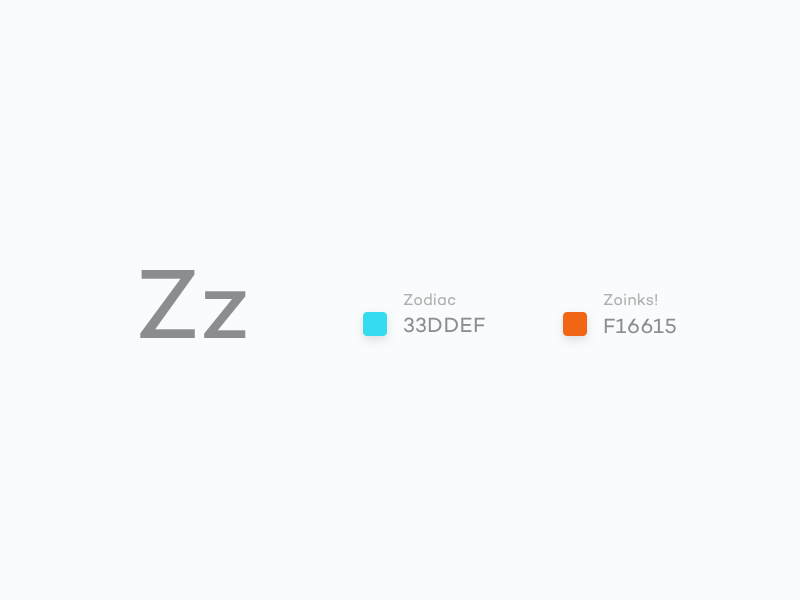 #Typehue Week 26: Z challenge typography design colour z type typehue weekly