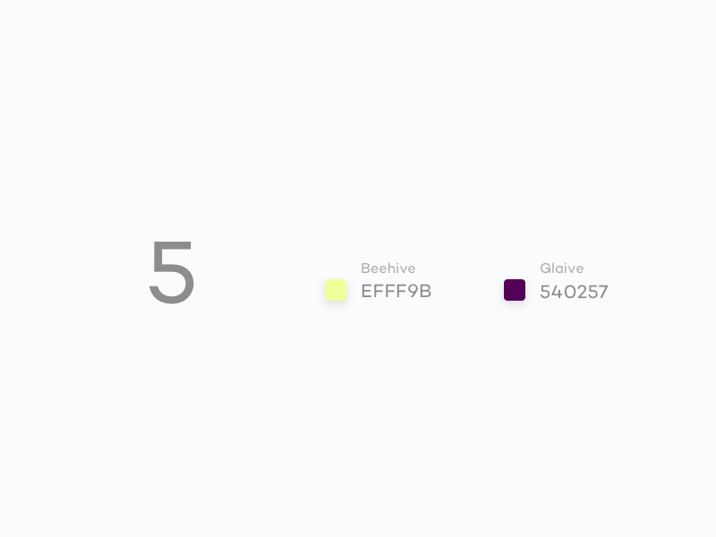 #Typehue Week 32: 5 inspiration weekly typehue type 5 colour design typography lettering creative challenge numbers